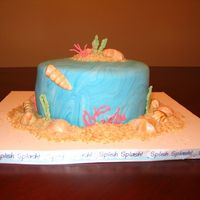 "Ocean Cake Cake done for a 51 yr old man who loves going to the beach. He love it and was amazed. Made me feel good, being my 2nd ""real""..."