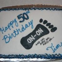 Tim's Birthday Cake 9x13 with buttercream