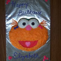 Eliabeth's Zoe Birthday Cake After a recent visit to Sesame Place, my daughter fell in love with Zoe. Since I had the Elmo pan already from her first birthday I thought...