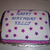 Co-Worker Birthday Cake 9 x 13 with buttercream
