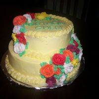 Cascading Roses Birthday Cake   All in buttercream