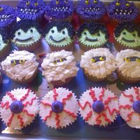 Halloween Cupcakes   We do a get together after home soccer games and have dinner, I'm providing dessert for the kids:)