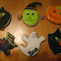 Halloween Cookies These were NF sugar cookies decorated in royal icing. I made 200 of these...they were never ending..