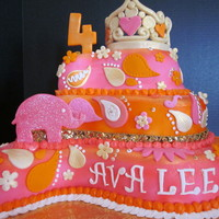 Ava's Indian Princess Party This was done for a little girl that was having an Indian Princess themed party. Her invites were orange and hot pink with an elephant, so...