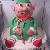 Manny's Elf.. Did this cake for a good friend's birthday. His wife wanted me to do an elf since he was dressing up like one for his Christmas party...