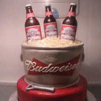 Budweiser's Cake I was asked to do this cake from the Budweiser company for a sales meeting they were having. Everything is edible, except for the lids on...