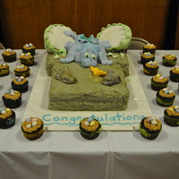 Baby Dragon Shower Cake I made this cake for my sister-in-law's dragon themed baby shower. The dragon cake was from a Debbie Brown picture I found on the...