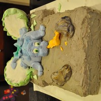 Baby Dragon Shower Cake