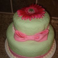 Lilly Pulitzer Themed Baby Shower Cake