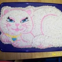 "Serafina Birthday Cake Pink princess cake-from this site, buttercream stars, Wilton Kitty pan.My daughter was very certain she wanted a ""Serafina"" (from..."