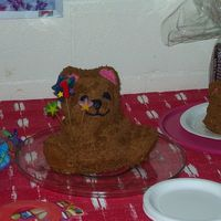 First Birthday This was for my son's first birthday. The large bear was for the guests, and the small one was his smash cake.