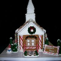 Gingerbread Church This is a replica of a local church. I was asked to do this for their Christmas extravaganza. It was the first gingerbread structure of...