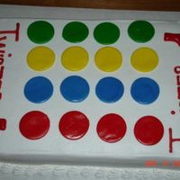 Twister Cake This is what the customer decided for the 80's birthday. I'm not sure if Twister was started in the 80's but that is what he...