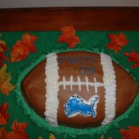 Football Cake bct- go Lions