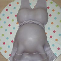 Purple Belly I was so excited that I finally got a chance to make a belly cake. I am pretty happy with the result. =) Made for friend, wanted lavender...