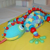 "Colorful Chameleon This is supposed to be Colette Peters ""Mr. Sticky."" I don't have the book so I just studies pictures of what other people..."