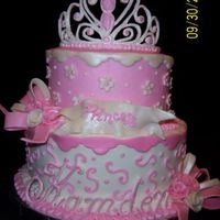 Pink Princess This is my first princess cake. I had so much fun creating the different elements for this one. Chocolate cake with bavarian Cream filling...