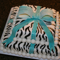 Zebra Cake I made this for my daughter's 12th birthday. She is WILD about zebra print so it was only fitting that her cake reflected her...