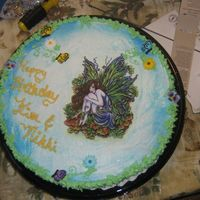 Fairy Cake my moms friend at work loves faires, so we made this for her birthday. since they were celebrating at the same time for another girl we...