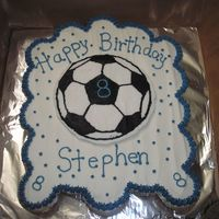 Soccer Cupcake Cake cupcake cake for my son who loves to play soccer, ball is fbct