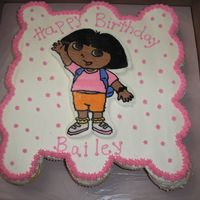 Dora cupcake cake for a Dora fan, Dora is fbct