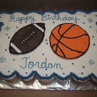 Sports cupcake cake for a sports fan, balls are fbct