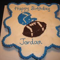 Birthday Cupcake Cake Birthday cupcake cake for a boy who loves football