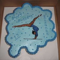 Gymnastics Birthday Cupcake Cake Gymnastics cupcake cake. I started out with an fbct but it broke, so plan B was the piping gel transfer at the last minute. It came out ok...