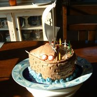 Sailboat Birthday This is a cake I made for my dad, who loves sailboats... did not turn out the way I pictured it, but he liked it! Chocolate cake with...