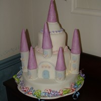 Princess Castle  This is the first cake I have made in over 5 years! It is a butter cake with homemade buttercream, covered in wilton fondant. This was my...