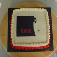 Scarface Square Cake LOL! I actually got a request for a Scarface cake! I couldn't decide what to do, so I posted here and Doug gave me some links to some...