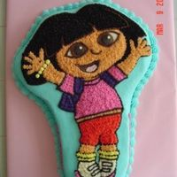 Dora The Explorer This is a yellow DH mix with the cake mix extender recipe added. All buttercream, except the brown and black are chocolate buttercream....