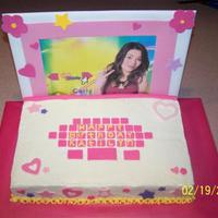 Icarly Laptop 9x13 marble cake. BC icing with fondant accents. Screen is a 10x14 cake board covered with craft foam. picture is just a picture off the...