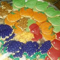 "Fruit Of The Spirit Cookies Harvest and Fruit Cookies- ""But the fruit of the Spirit is love, joy, peace, longsuffering, gentleness, goodness, faith, meekness,..."