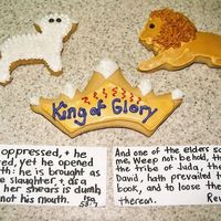 King Of Kings, Lion Of Judah, Lamb Of God   These were some of our Christmas cookies this year to glorify the LORD Jesus! I based each cookie on a scripture found in the Bible.
