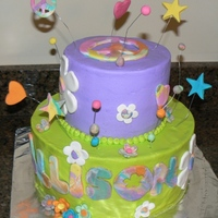 Groovy Birthday Cake Groovy birthday cake! Buttercream with fondant accents. Super fun to make. Thanks for looking.