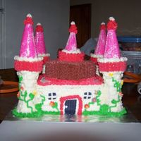 Castle Cake my first attempt all buttercream