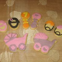 Baby Girl Cookies Cookies for a celebration of the birth of a baby girl. NFSC with fondant. No royal details since these are being shipped overseas, and I...