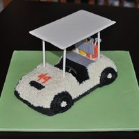Golf Cart   buttercream and fondant used for this cake