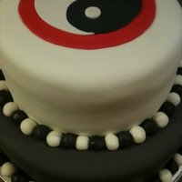 Yin And Yang This was a stressful cake! It doesn't look it at all, but it was done super fast! I got a call from the client Friday afternoon...