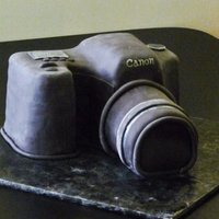 Canon Camera This was for a friend's birthday. Marble cake with mmf over. Definitely time for an airbrush! Tinting mmf black is for the birds! :)