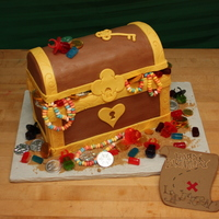Treasure Cake Inspired by several cakes here at CC, especially __Martha__. The top of the box is a lemon cake, carved, then covered in Michele Foster&#...