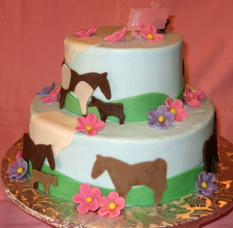 Strange Horse Themed Birthday Cake Cake Gallery On Cake Central Funny Birthday Cards Online Alyptdamsfinfo