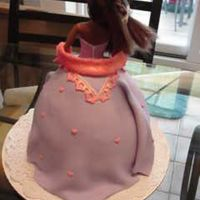 Princess Back Back view of princess doll cake