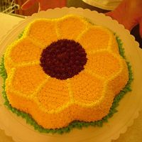 Sunflower Cake Just did it for practice wanted to try the pan. Thanks for looking.