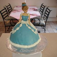Cinderella   First doll cake. Cinderella was inspired from cc members. Thanks!