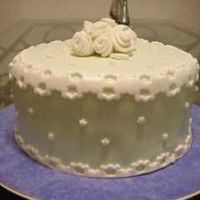 Fondant Cake Light Green With White Lace Border
