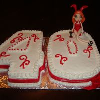 40 Cake  Fourty Cake with hand sculted figure of Kim Possible in playboy bunny outfit. Cakes where 9x13 pans carved out and figurine made with...