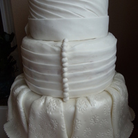 Drapped Wedding Cake