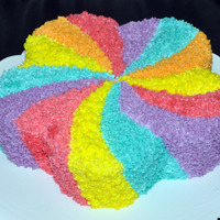 Colourful Cake   Moist Butter cake with butter icing. Used only tip 14 for this cake. Thank you for looking.